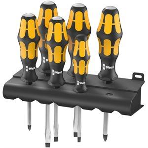6 Screwdriver set Kraftform chiseldriver and rack