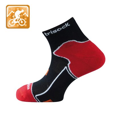 Trisock Bamboo Cycling Socks Black Large (43-46)