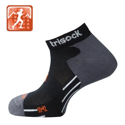 Trisock Bamboo Running Socks Black Large (43-46)
