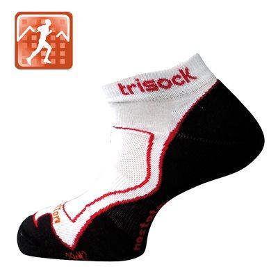 Trisock Running Socks Cotton / Nostatex White Medium (39-42)