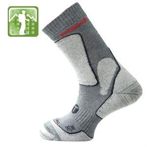 Trisock Trekking Socks Bio Cotton / Chitin Gris Medium (43-46)