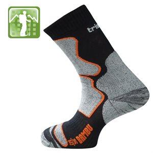 Trisock Trekking Socks Bamboo Black / Orange Medium (39-42)