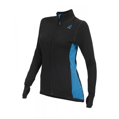 Hotwool 400 G Jacket Woman Black / Blue Sapphire Medium