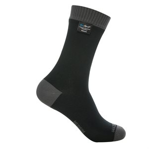 Dexshell Coolvent Lite Waterproof Socks Black / Grey Large