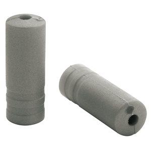150 Ferrules Ø5,0mm PVC Silver