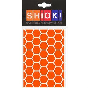 Reflective Honeycomb pieces Orange