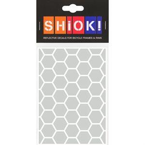 Reflective Honeycomb pieces White