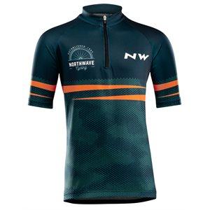 Northwave ORIGIN JUNIOR Jersey manche courte Junior Bleu / Orange 10