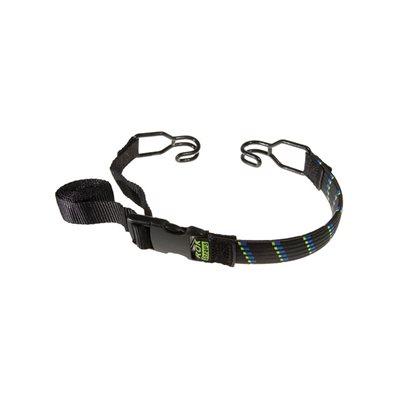"Adjustable Stretch Strap 18"" To 120"" (10') Black / Green"