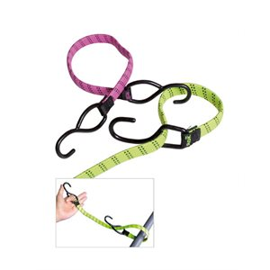 "Sport Stretch Strap With Coated Hooks 1 / 2"" X 18""Pink"