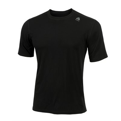 Lightwool 100% Merino Wool Crew Neck Classic Man Black Size Option