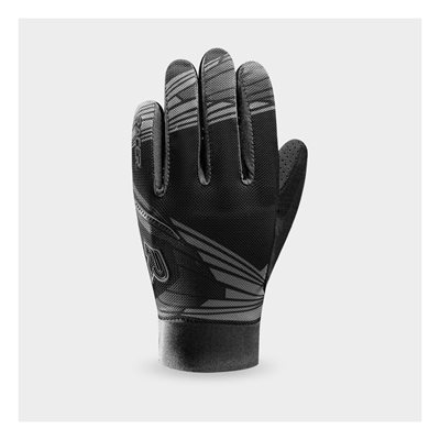 Racer Rock2 Gloves Dh / Mtb With D3O Knuckle Black And White Medium (8)